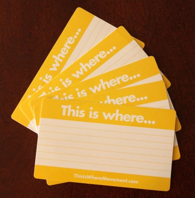 """This is where..."" Stickers"